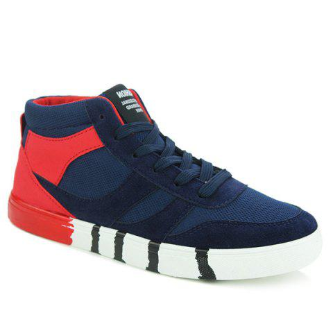 Fashion Trendy Tie Up and Splicing Design Casual Shoes For Men