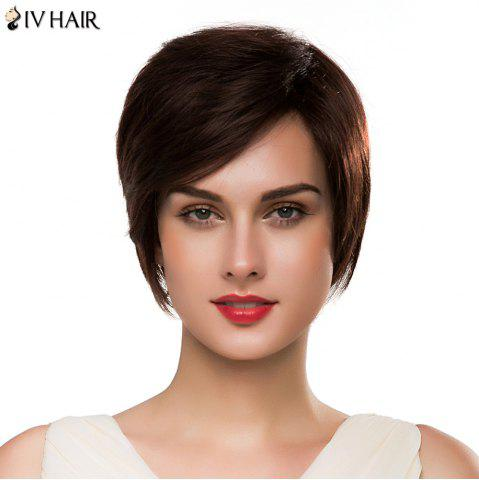 New Spiffy Capless Women's Short Side Bang Siv Human Hair Wig