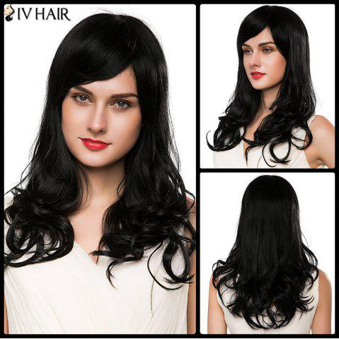 Best Ladylike Capless Women's Long Wavy Side Bang Siv Human Hair Wig