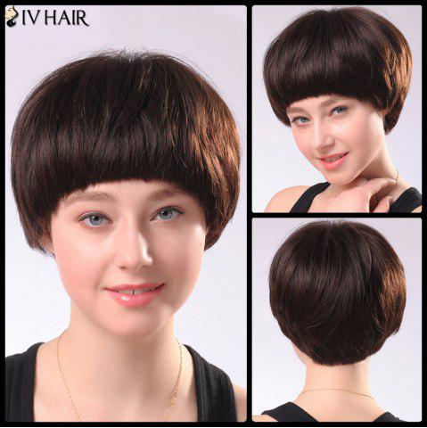 Shops Spiffy Women's Short Full Bang Siv Human Hair Wig