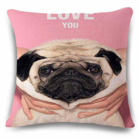 Hot Fashionable Home Decor Square Love You Cute Puppy Pattern Pillow Case