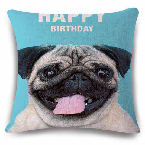 Fashion Sweet Birthday Gift Puppy Square Pattern Back Cushion Pillow Case