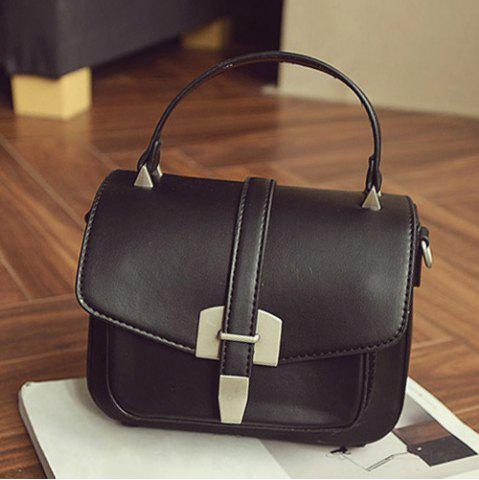 Buy Fashionable Covered Closure and Metal Design Crossbody Bag For Women - BLACK  Mobile