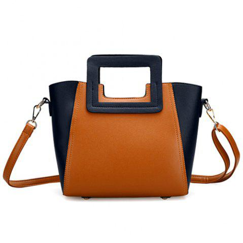 Store Fashion Snap Button and Color Block Design Tote Bag For Women
