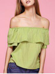 Overlay Off The Shoulder Blouse -