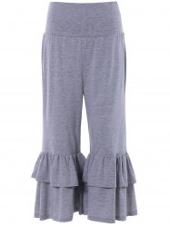 Tiered Ruffled Capris -