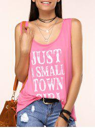 Charming Scoop Neck Letter Print Tank Top For Women -