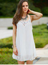 Lace Spliced Spaghetti Strap Women's Summer Dress