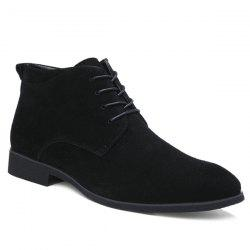 Stylish Suede and Tie Up Design Casual Shoes For Men -