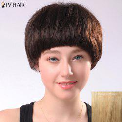 Spiffy Women's Short Full Bang Siv Human Hair Wig