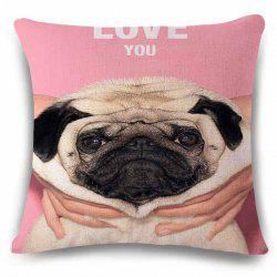 Fashionable Home Decor Square Love You Cute Puppy Pattern Pillow Case -