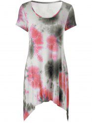 Asymmetrical Tie Dye T-Shirt Dress