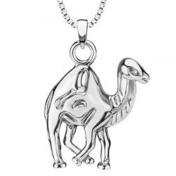 Vintage Camel Pendant Necklace -