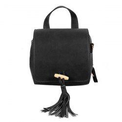 Retro Magnetic Closure and Tassels Design Crossbody Bag For Women -