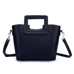 Fashion Snap Button and Color Block Design Tote Bag For Women