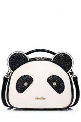 Panda Shape Sequined Tote Bag