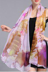 Chic Lotus Pond Printed Shawl Wrap Scarf For Women