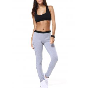 Racerback Tulle Spliced Bra and Running Jogger Pants