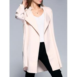 Long Sleeve Turn-Down Collar Women's Long Coat
