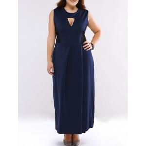Plus Size Cut Out High Waist Cocktail Dress