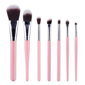 Stylish 7 Pcs Nylon Face Eye Makeup Brushes Set
