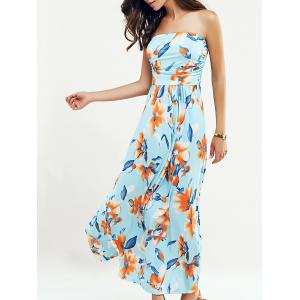 Beach Maxi Floral Bandeau Strapless Summer Dress