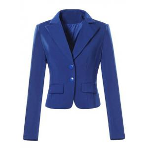 Single Breasted Lapel Neck Short Blazer