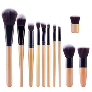 Stylish 11 Pcs Nylon Face Eye Lip Makeup Brushes Set