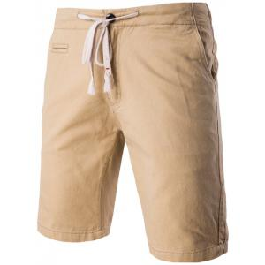 Fashion Faux-Pockets Design Drawstring Waistband Shorts For Men