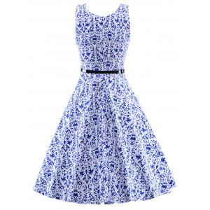 Vintage Sleeveless Swing Dress -