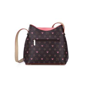 Vintage Graffiti Print Shoulder Bags - RED