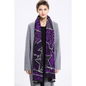 Star Printed Cashmere Scarf