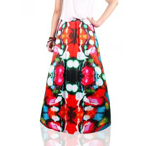 Ethnic Style Colorful Print Skirt -