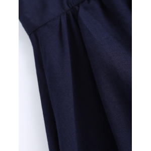Plus Size Stylish Tie Front Pleated Culotte -
