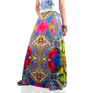 Ethnic Style Colorful Skirt -