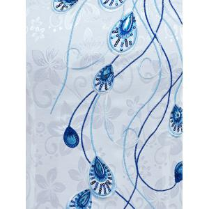 Wave Cut Linetype Feather Pattern Cheongsam -