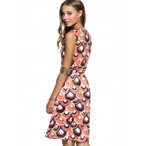 Colorful Sleeveless Printed Summer Dress For Women -
