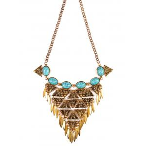 Ethnic Triangle Necklace - GOLDEN