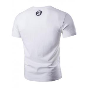 Classic Round Neck Button Design Short Sleeve T-Shirt For Men -