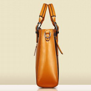 Fashionable Zippers and Buckles Design Tote Bag For Women - WINE RED