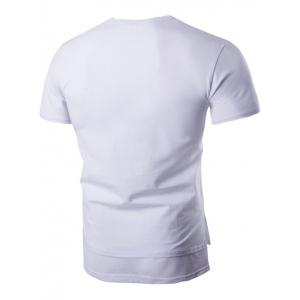 Brief Style Pure Color Pocket Short Sleeve T-Shirt For Men - WHITE L