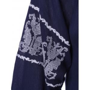 Ethnic Style Embroidered Tie Nine-Minute Sleeves Blouse For Women -