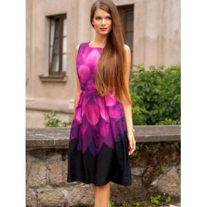 Vintage Sleeveless Tie Dye Dress -