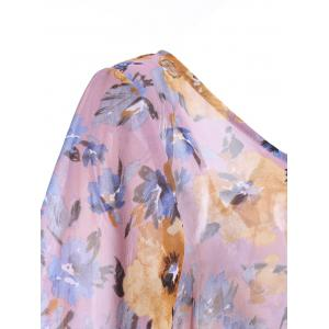 Stylish Print Tie Backless Short Sleeves Chiffon Blouse For Women -