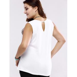Plus Size Casual Architecture Print Tank Top - WHITE 5XL