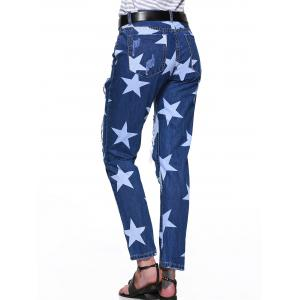 Star Hole Ripped Distressed Jeans -