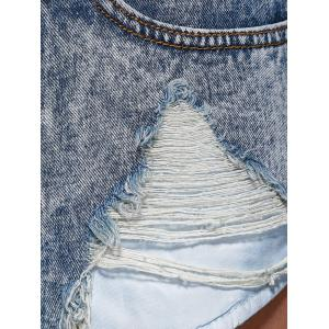 Hole Ripped Distressed Pocket Jeans Shorts -