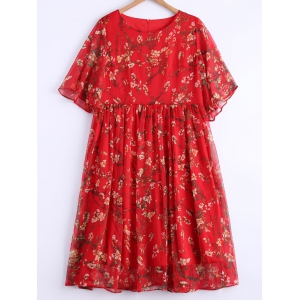 Plus Size Sweet Wintersweet Print Dress -