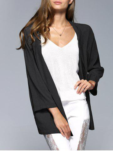 Fancy Simple Style Collarless Long Sleeve Women's Blouse