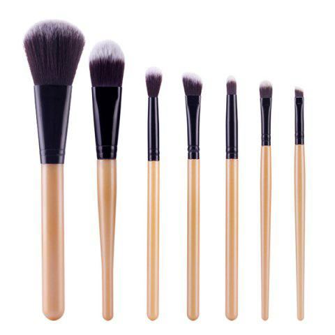 Chic Stylish 7 Pcs Soft Nylon Face Eye Makeup Brushes Set - GOLDEN  Mobile